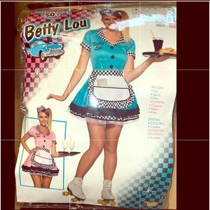 Blue 50's Waitress Costume